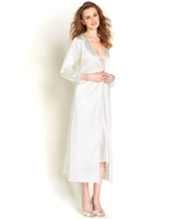Flora By Flora Nikrooz Stella Charmeuse Venise Trim Robe Ivory