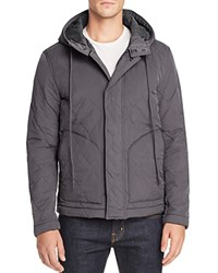 Todd Snyder Quilted Hooded Jacket Dark Grey