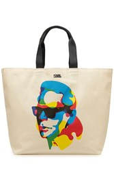 Karl Lagerfeld Printed Cotton Tote