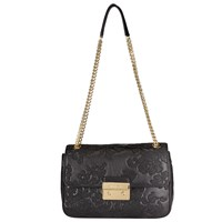 Michael Michael Kors Lace Sloan Small Leather Chain Shoulder Bag Black