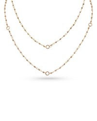 Dominique Cohen 18K Rose Gold Rose Pyrite And Bamboo Link Necklace 42 L