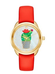 Kate Spade Cactus Crosstown Watch Red Gold