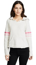 Mother The Square Tear Raw Hoodie Multi Pinks