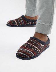 Dunlop Fairisle Slip On Slipper Multi