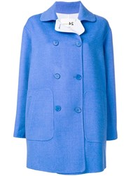Manzoni 24 Double Breasted Peacoat Blue