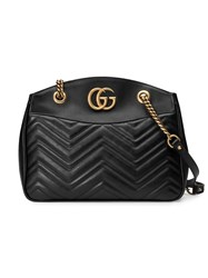 Gucci Gg Marmont Matelasse Tote Women Leather Metal Microfibre One Size Black
