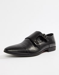 Pier One Formal Monk Shoes In Black Leather