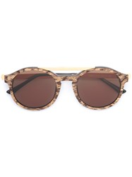 Thierry Lasry Round Frame Sunglasses Brown