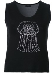 G.V.G.V. Cartoon Knit Tank Top Black