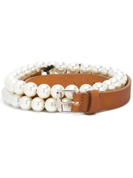 Peter Jensen Double Pearl Belt Brown