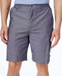 Geoffrey Beene Men's Classic Fit Chambray Shorts Navy