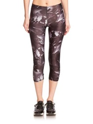 Zara Terez Weights Printed Capri Leggings Black Grey