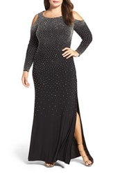 Xscape Evenings Plus Size Women's Embellished Stretch Gown