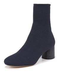 Vince Tasha Stretch Knit Booties Blue