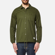 Penfield Men's Blackstone Drawstring Hem Shirt Olive Green