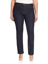 Nydj Plus Size Marilyn Straight Leg Jeans Dark Enzyme
