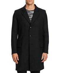 Gloverall Chesterfield Wool Cashmere Blend Coat Black