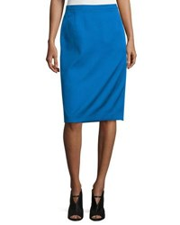 Cnc Costume National Mid Rise Pencil Skirt Cobalt
