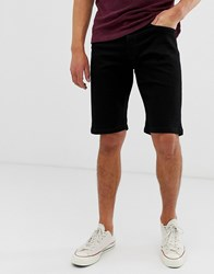 Voi Jeans Denim Shorts In Black