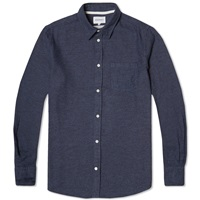 Norse Projects Anton Brushed Shirt Dark Navy
