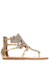 Jeffrey Campbell 10Mm Jeweled Faux Leather Sandals Gold