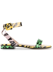 Moschino Cheap And Chic Animal Print Sandals Multicolour
