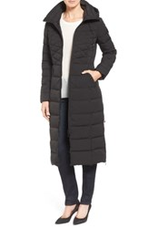 Bernardo Quilted Long Coat With Down And Primaloft Fill Black