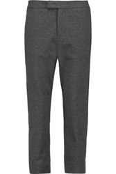 James Perse Cropped Cotton Slim Leg Pants Dark Gray