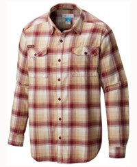 Columbia Men's Florida State Seminoles Flare Gun Long Sleeve Flannel Button Up Shirt