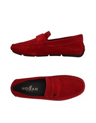 Hogan Loafers Red