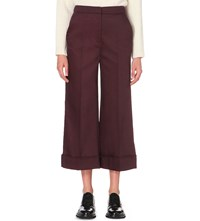 Whistles Margot Cropped Trousers Plum Claret