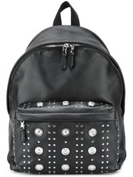Versus Logo Plaque Backpack Black