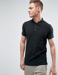 Selected Homme Popper Polo Black