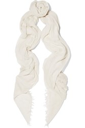 Donna Karan Modal And Cashmere Blend Scarf White