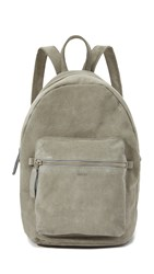 Baggu Leather Backpack Grey