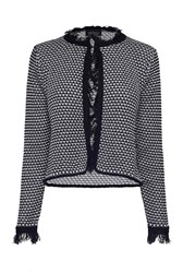 James Lakeland Fringe Knit Jacket Black