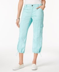 Style And Co Cargo Capri Pants Only At Macy's Aqua Brook
