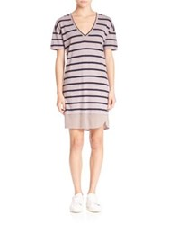 Stateside Striped T Shirt Dress Clay