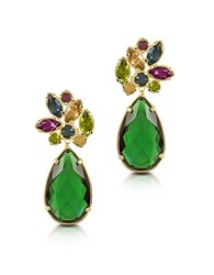 Forzieri Crystal Drop Earrings Green