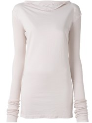 Rick Owens Drkshdw Ribbed Sleeve Sweatshirt Pink And Purple