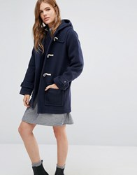 Ymc Toggle Hooded Duffle Coat Navy