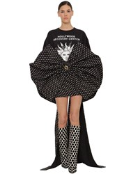 Fausto Puglisi Oversize Printed Heavy Jersey T Shirt Black