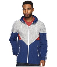 Adidas Colorado Nautical Wind Jacket Mystery Blue Mystery Red Mgh Solid Grey White Men's Coat