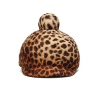 Lola Hats Toy Soldier Leopard Print Felt Hat Brown