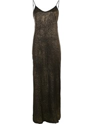 Rta Metallic Maxi Dress Black