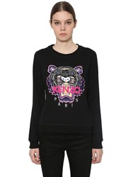 Kenzo Embroidered Classic Cotton Sweatshirt Black