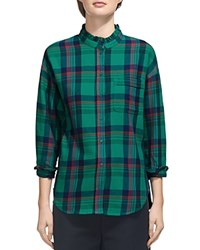 Whistles Laurie Check Print Shirt Green Multi