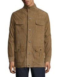 Peter Millar Crown Suede Safari Jacket Warwick Beige