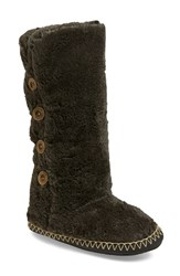 Women's Bedroom Athletics 'Grace' Tall Slipper Boot Charcoal Faux Fur