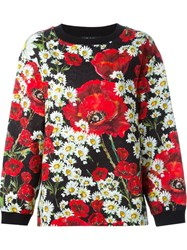 Dolce And Gabbana Printed Brocade Sweatshirt Black